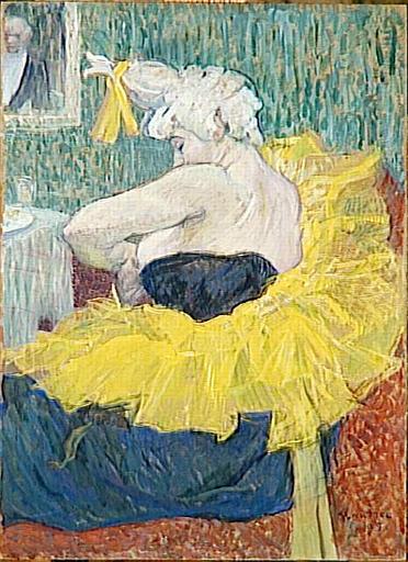 La Clownesse Cha U Kao by Toulouse-Lautrec