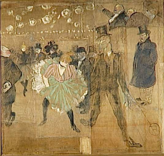 La Danse au Moulin Rouge by Toulouse-Lautrec