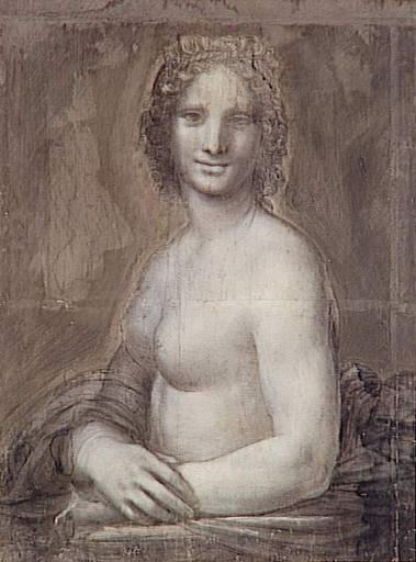 Un carboncillo que actualmente reside en el museo del Condé de Chantilly podría ser un estado temprano de la Mona Lisa