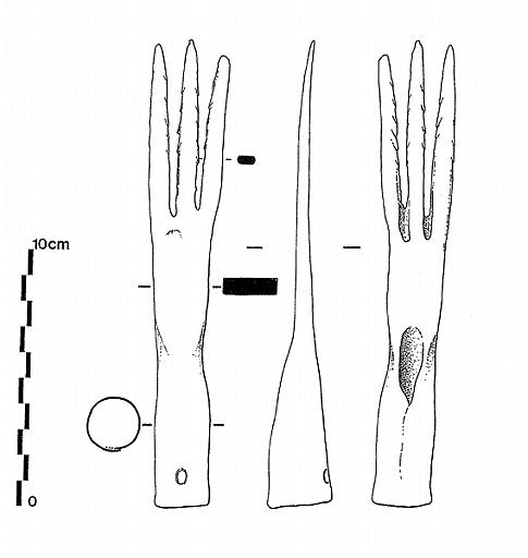 foëne de pêche a 3 dents d'après artefact de Chalons-sur-Saône M016583_0074410000001369_p