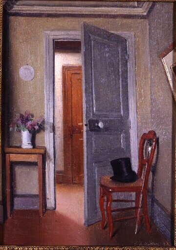Titre  Le Haut-de-forme, intérieur ; La Visite (Ancien titre donné en 1965 lors de la rétrospective de Vallotton à Zurich