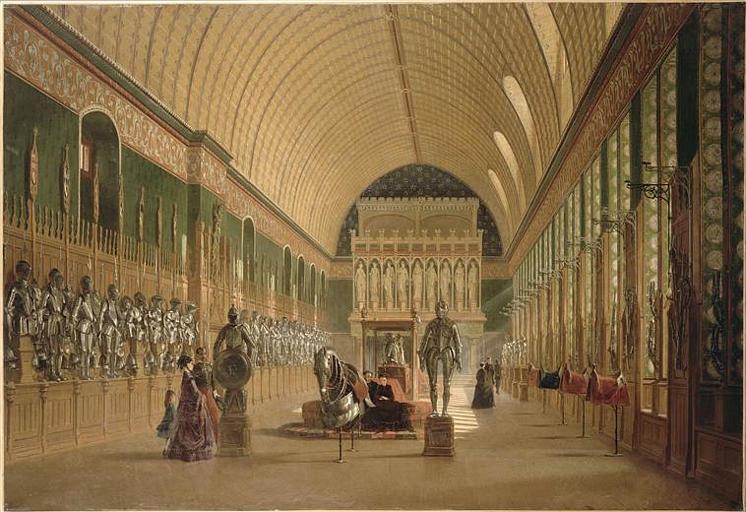 La Salle des preuses au château de Pierrefonds après la restauration de M. E. Viollet-le-Duc