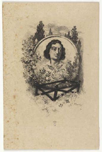 Buste d'Hégésippe Moreau, eau forte de Félix Regamey