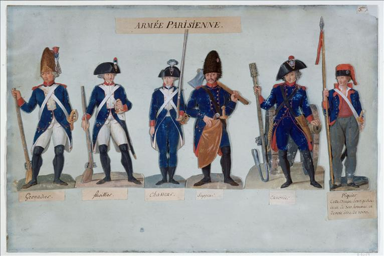 1789 . Un fusil de sergent de la garde nationale parisienne M110400_27121-11_p