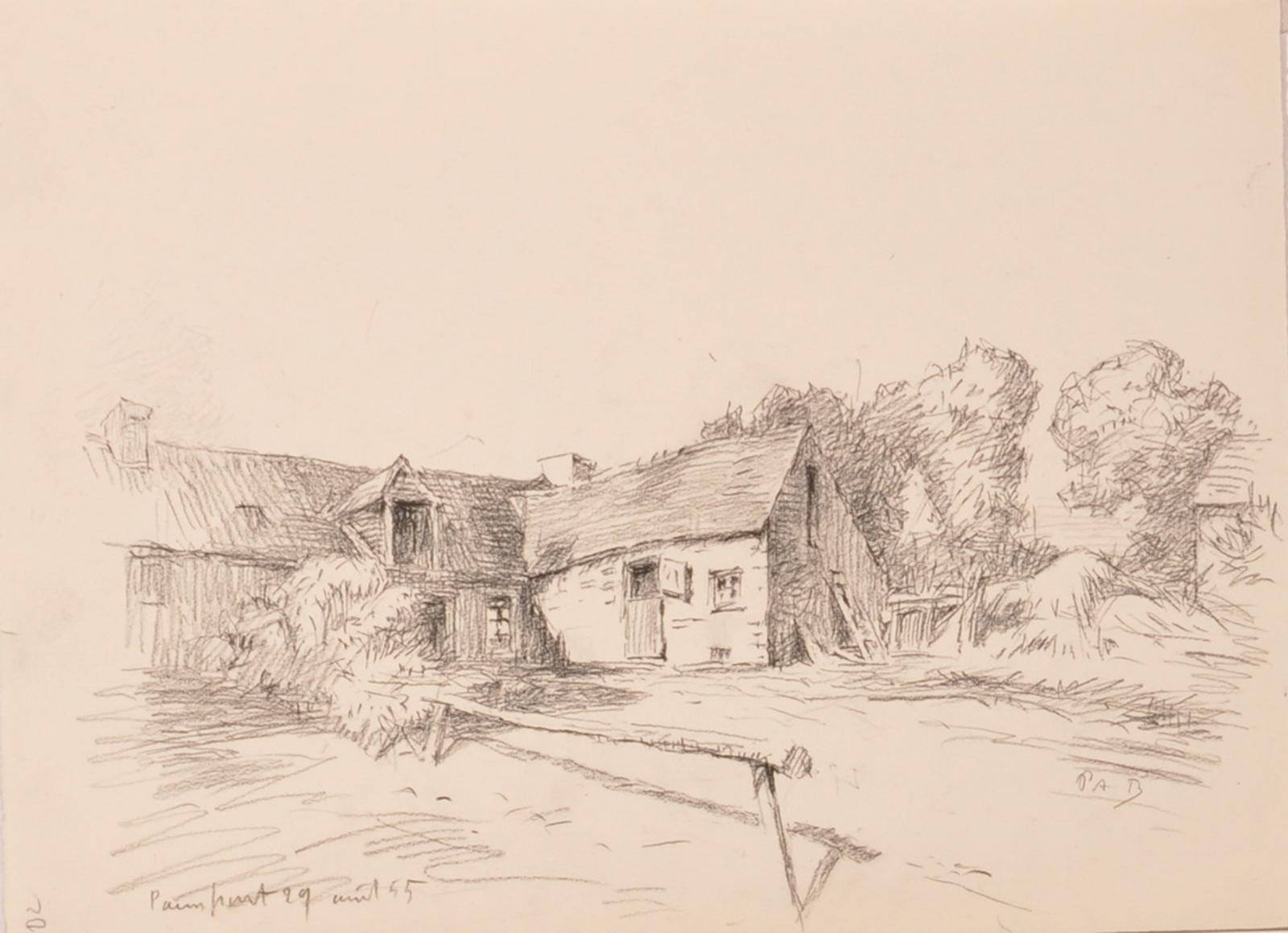 Paul Adrien Bouroux, Une ferme à Paimpont, Senlis (musée d'Art et d'Archéologie)