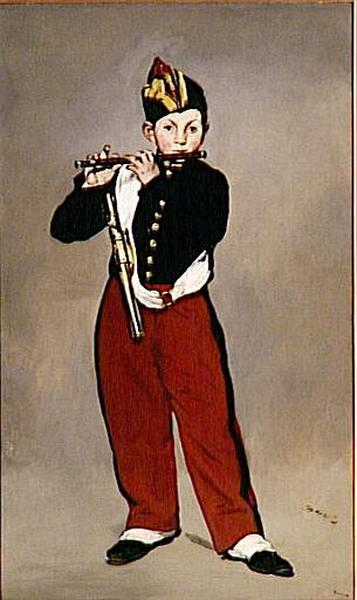 Edouard Manet's painting Young Flautist