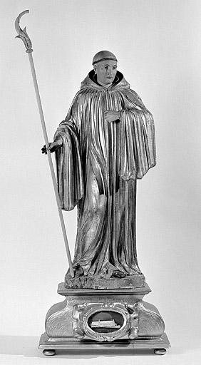 statue reliquaire de saint Lupicin