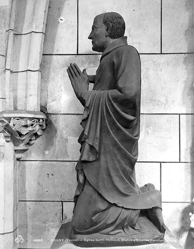 statue : Etienne Porcher agenouillé