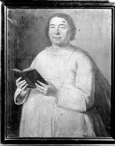 tableau : portrait d'un prieur