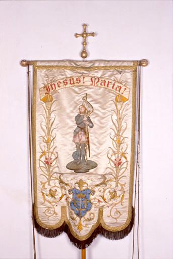bannière de procession : Jeanne d'Arc