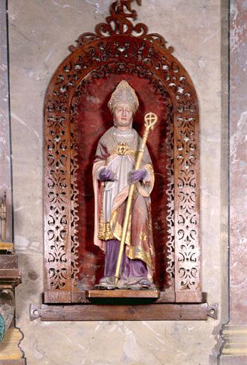 statue (petite nature) : saint Firmin