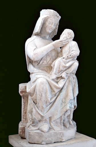 statue (petite nature) : Vierge à l'Enfant, dite Notre-Dame-de-Bonne-Mort