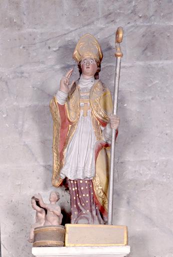 statue (petite nature) : saint Nicolas de Bari