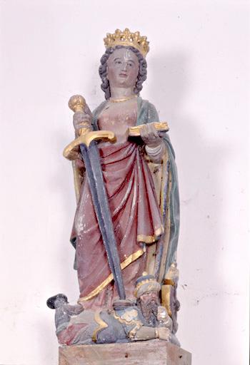 statue (statuette) : sainte Catherine d'Alexandrie