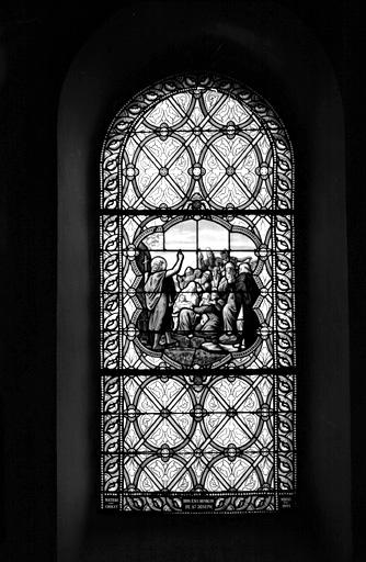 verrière (baie 7) : saint Jean-Baptiste devant la foule