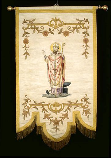 bannière de procession : saint Eloi