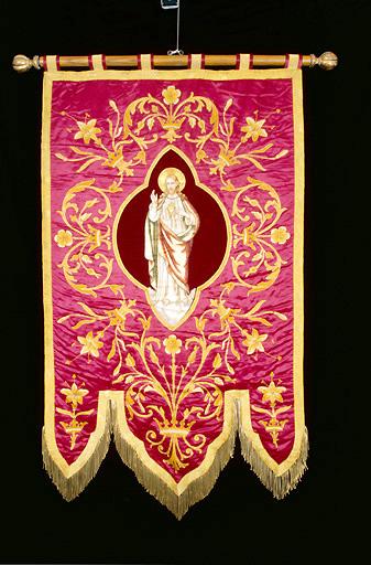 bannière de procession : Sacré-Coeur de Jésus