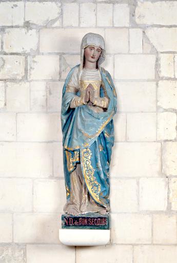 statue (petite nature) : Vierge du Calvaire, dite Notre-Dame du Bon-Secours