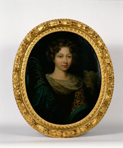 tableau : Sainte Barbe, sous les traits de petite nièce de Melle de Melun