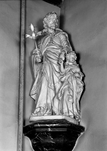 groupe sculpté : Saint Joseph et l'enfant Jésus n° 1