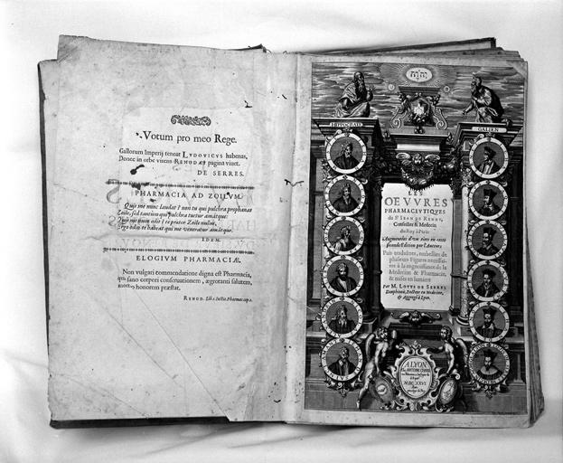 livre : Les oeuvres pharmaceutiques du Sieur Jean de Renou, seconde édition 1626, (1er exemplaire)