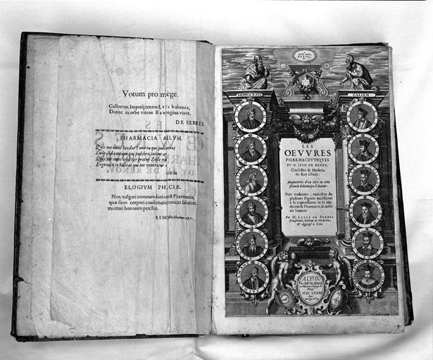 livre : Les oeuvres pharmaceutiques du Sieur Jean de Renou, seconde édition (2ème exemplaire)