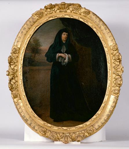 tableau : sainte Monique, sous les traits de la mère de Melle de Melun