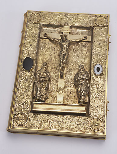 plat de livre liturgique (plat d'évangéliaire) : Calvaire