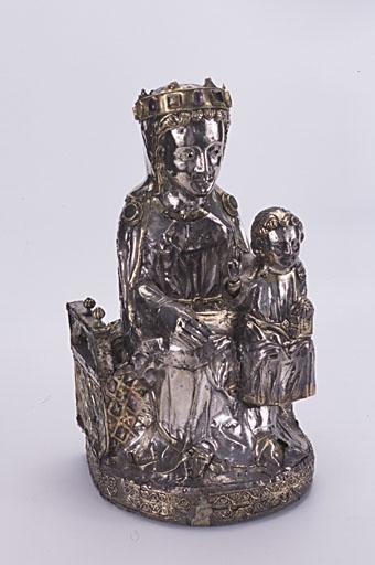 statuette-reliquaire : Vierge à l'Enfant trônant