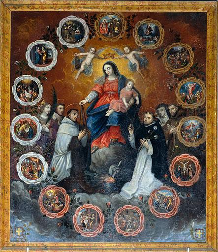 tableau : Vierge du Rosaire et du Scapulaire