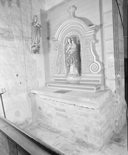 ensemble de 2 autels : autel de sainte Marie, autel de saint Joseph