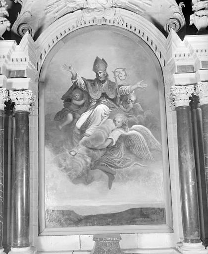 tableau : saint Martin ravi par les anges