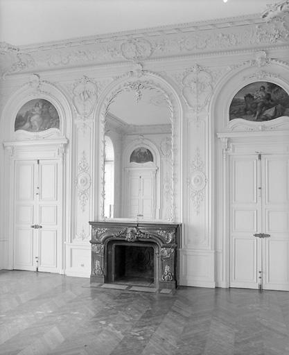 ensemble du grand salon : revêtement mural, dessus-de-porte (5)