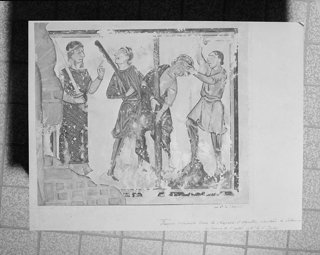 peinture monumentale : arche de Noë, martyre de saint Jacques