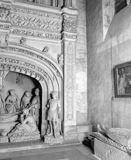 revêtement mural de la Mise au tombeau