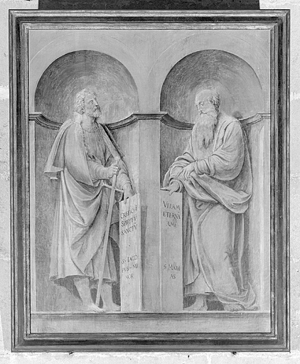 ensemble de 6 tableaux des volets du retable de Pierre de la Baume