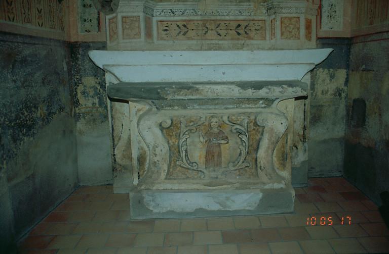 ensemble de l'autel secondaire de saint Laurent