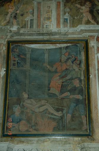 tableau d'autel : Martyre de saint Laurent