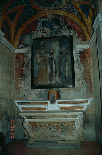 ensemble de l'autel secondaire de saint Roch