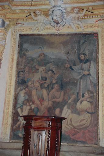 tableau d'autel : Prédication de saint François-Xavier