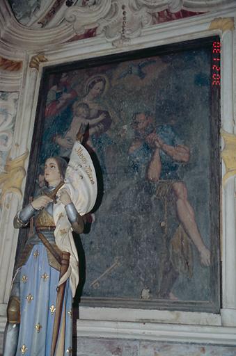 tableau d'autel : Apparition de la Vierge à l'Enfant à saint Pierre