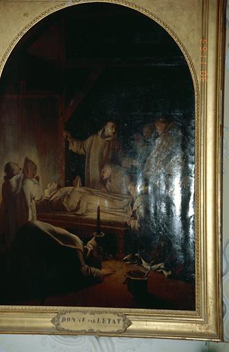 tableau d'autel : Mort de saint Bruno