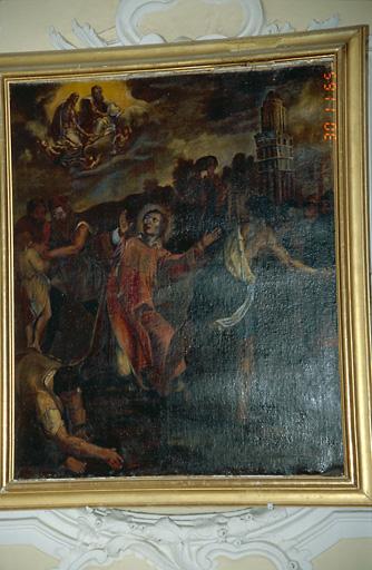 tableau d'autel : Lapidation de saint Etienne