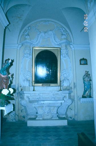 ensemble de l'autel secondaire de saint Bruno