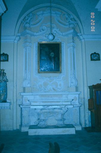 ensemble de l'autel secondaire de sainte Marie-Madeleine