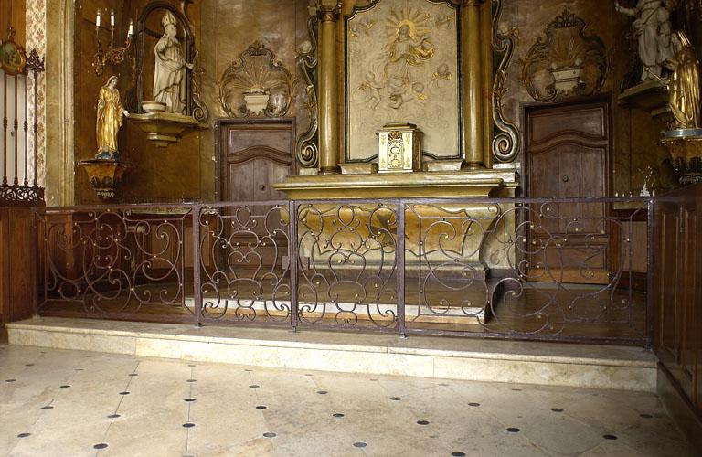 clôture de choeur : grille de communion