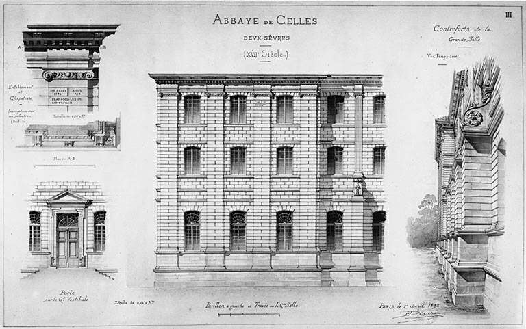 Bâtiments conventuels de l'abbaye Notre-Dame aujourd'hui bâtiments communaux
