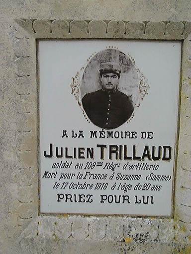 Tombeau de Julien Trillaud