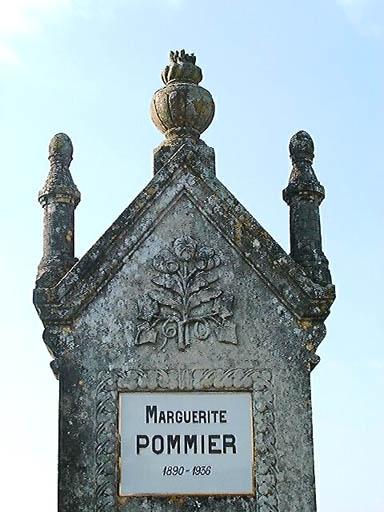 Tombeau de Marguerite Pommier