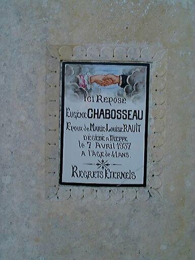 Tombeau d'Eugène Chabosseau